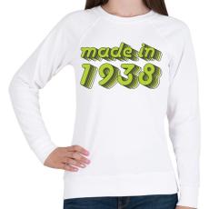 PRINTFASHION made-in-1938-green-grey - Női pulóver - Fehér