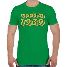 PRINTFASHION made-in-1939-green-grey - Férfi póló - Zöld