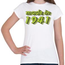 PRINTFASHION made-in-1941-green-grey - Női póló - Fehér