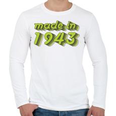 PRINTFASHION made-in-1943-green-grey - Férfi hosszú ujjú póló - Fehér