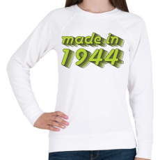 PRINTFASHION made-in-1944-green-grey - Női pulóver - Fehér