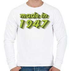 PRINTFASHION made-in-1947-green-grey - Férfi pulóver - Fehér