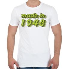 PRINTFASHION made-in-1948-green-grey - Férfi póló - Fehér