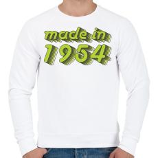 PRINTFASHION made-in-1954-green-grey - Férfi pulóver - Fehér