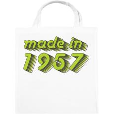 PRINTFASHION made-in-1957-green-grey - Vászontáska - Fehér