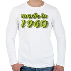 PRINTFASHION made-in-1960-green-grey - Férfi hosszú ujjú póló - Fehér