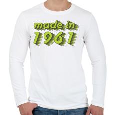 PRINTFASHION made-in-1961-green-grey - Férfi hosszú ujjú póló - Fehér