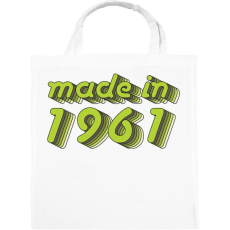 PRINTFASHION made-in-1961-green-grey - Vászontáska - Fehér