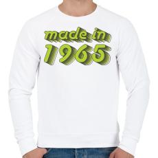 PRINTFASHION made-in-1965-green-grey - Férfi pulóver - Fehér