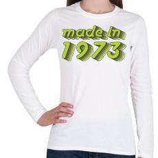 PRINTFASHION made-in-1973-green-grey - Női hosszú ujjú póló - Fehér
