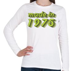 PRINTFASHION made-in-1975-green-grey - Női hosszú ujjú póló - Fehér