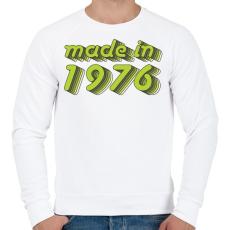 PRINTFASHION made-in-1976-green-grey - Férfi pulóver - Fehér