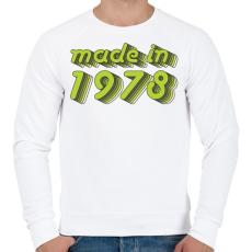PRINTFASHION made-in-1978-green-grey - Férfi pulóver - Fehér