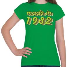 PRINTFASHION made-in-1982-green-grey - Női póló - Zöld