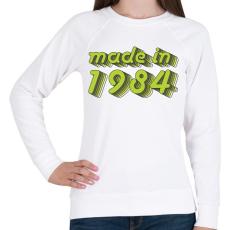 PRINTFASHION made-in-1984-green-grey - Női pulóver - Fehér