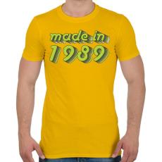PRINTFASHION made-in-1989-green-grey - Férfi póló - Sárga