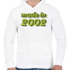 PRINTFASHION made-in-2002-green-grey - Férfi kapucnis pulóver - Fehér