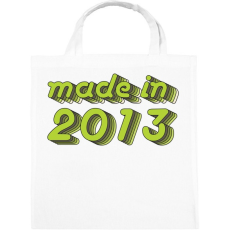 PRINTFASHION made-in-2013-green-grey - Vászontáska - Fehér