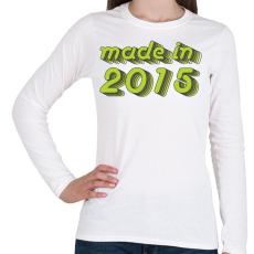 PRINTFASHION made-in-2015-green-grey - Női hosszú ujjú póló - Fehér