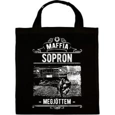 PRINTFASHION Maffia Sopron - Vászontáska - Fekete