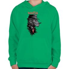 PRINTFASHION MAFIA - Gyerek kapucnis pulóver - Zöld