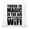 PRINTFASHION Magic WiFi - Párnahuzat, Díszpárnahuzat - Fehér