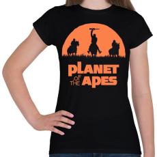 PRINTFASHION Majmok bolygója - Női póló - Fekete