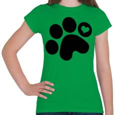 PRINTFASHION Mancsimádat  - Női póló - Zöld