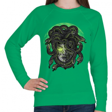 PRINTFASHION Medúza - Női pulóver - Zöld