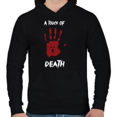 PRINTFASHION Megérint a halál - Férfi kapucnis pulóver - Fekete