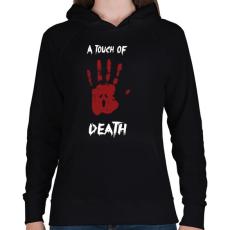 PRINTFASHION Megérint a halál - Női kapucnis pulóver - Fekete