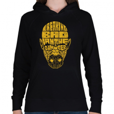 PRINTFASHION Megtörni a rosszat - Női kapucnis pulóver - Fekete