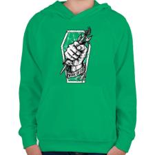 PRINTFASHION Meló halálig - Gyerek kapucnis pulóver - Zöld gyerek pulóver, kardigán