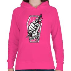 PRINTFASHION Meló halálig - Női kapucnis pulóver - Fukszia