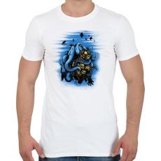 PRINTFASHION Mélytengeri szörny - Férfi póló - Fehér