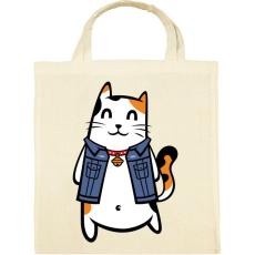 PRINTFASHION Menő macska - Vászontáska - Natúr
