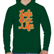 PRINTFASHION Mentsd meg a szexuális életed!  - Férfi kapucnis pulóver - Sötétzöld