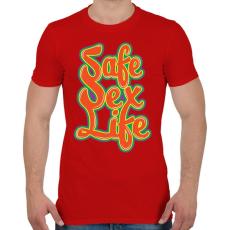 PRINTFASHION Mentsd meg a szexuális életed!  - Férfi póló - Piros