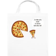PRINTFASHION Mérges pizza - Vászontáska - Fehér