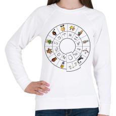 PRINTFASHION Mérleg - Női pulóver - Fehér