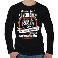 PRINTFASHION Mérnökök - Férfi hosszú ujjú póló - Fekete