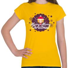 PRINTFASHION Merry Merry Christmas! - Női póló - Sárga