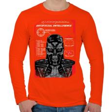 PRINTFASHION Mesterséges intelligencia - Férfi hosszú ujjú póló - Narancs