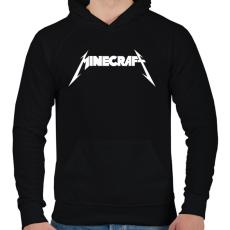 PRINTFASHION METÁL minecraft - Férfi kapucnis pulóver - Fekete
