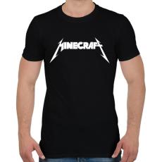 PRINTFASHION METÁL minecraft - Férfi póló - Fekete