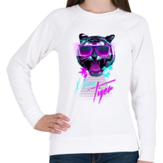 PRINTFASHION Miami tiger - Női pulóver - Fehér