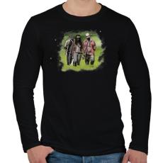 PRINTFASHION Michonne - Férfi hosszú ujjú póló - Fekete