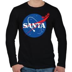 PRINTFASHION Mikulás NASA - Férfi hosszú ujjú póló - Fekete