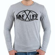 PRINTFASHION Minecraft - bányász élet - Férfi hosszú ujjú póló - Sport szürke