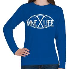 PRINTFASHION Minecraft - bányász élet - Női pulóver - Királykék